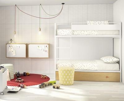 Bureau mural rabattable avec lumière LED, port USB, prise de courant et élastiques