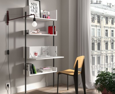 Meuble à étagères avec bureau