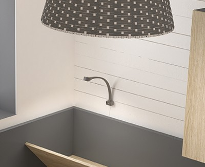 Lampe flex avec port USB et fixation avant